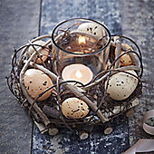 Egg and Twig Nest Tea Light Holder - Small
