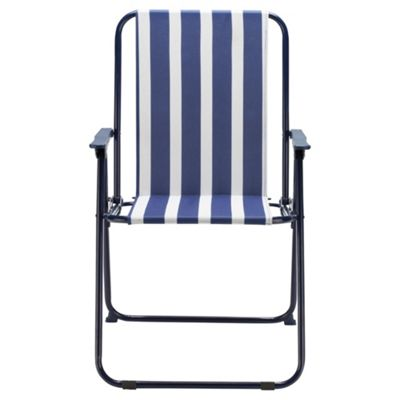 Buy Blue Stripe Folding Picnic Chair From Our Outdoor