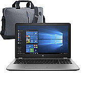 "HP 250 G6 15.6"" Laptop Intel Core i5-7200U 8GB 256GB SSD Win 10 Pro with HP Case - 1WY59EA#ABU"