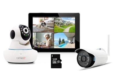 Time2 WIFI Smart Home CCTV Camera Security System HD 720p with 2 Cameras (Indoor & Outdoor)