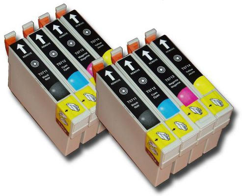 8 Chipped Compatible Epson Cheetah T0711-4 (T0715) Inks