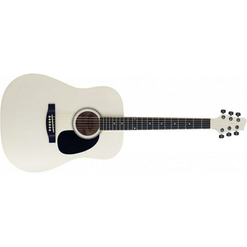 Rocket SW203 Dreadnought Acoustic Guitar - White