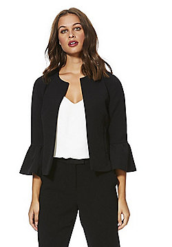 Only Bell Sleeve Short Blazer - Black