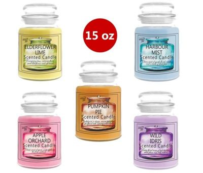 5 x Arome Pur 15 Oz Mixed Scented Candles