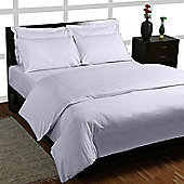 Homescapes White Egyptian Cotton Duvet Cover with Pillowcases 200 TC, Super King