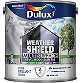 Dulux Weathershield Multi Surface Paint - White - 2.5L