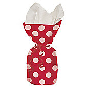 Red Polka Dots Cellophane Party Bags