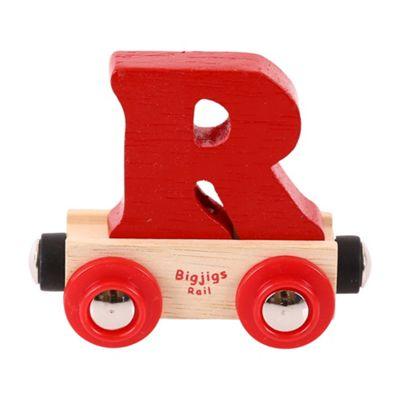 Bigjigs Rail Rail Name Letter R (Dark Red)