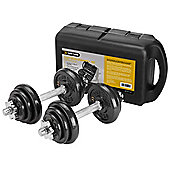 Gold Coast 20kg Cast Iron Dumbbell Set with Carry Case