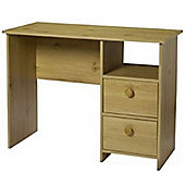 Bootle - 2 Drawer 1 Cubby Office Desk / Dressing Table - Pine