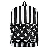 RockSax Stars And Stripes Black & White Backpack 32x42x11cm