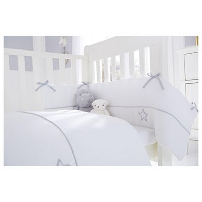 Clair De Lune 2pc Cot Bed Bedding Set Silver Lining