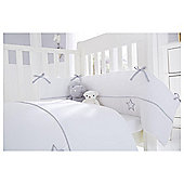 Clair de Lune 2pc Cot Bed Bedding Set (Silver Lining)