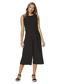 Izabel London Wrap Back Culotte Jumpsuit - Black