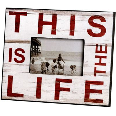 This Is The Life White Photo Picture Frame