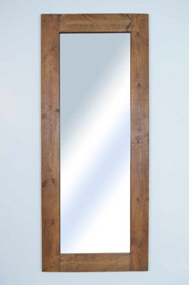 Extra Large Solid Rustic Natural Wood Big Wall Mirror 7Ft X 3Ft 183Cm X 91Cm New