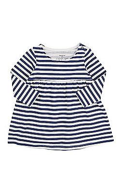 F&F Striped Smock Dress - Blue