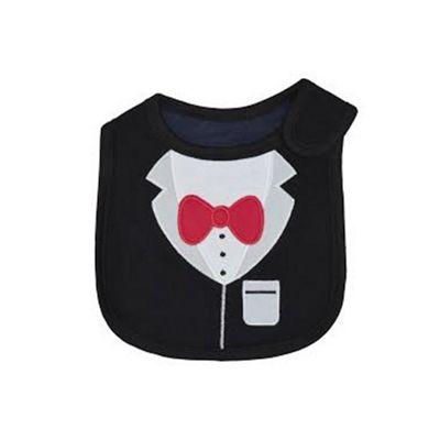 Cuddles Collection Bib (Black Bow Tie)