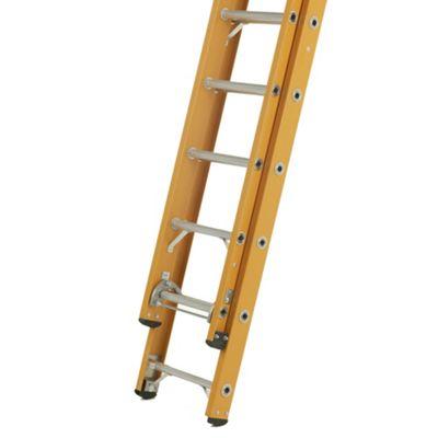 Heavy Duty 2.35m All GRP Fibreglass Double Extension Ladder