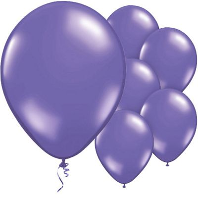Royal Purple 11 inch Latex Balloons - 50 Pack