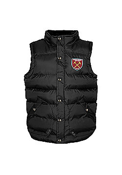 West Ham United FC Boys Gilet - Black