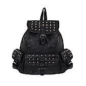 Queen of Darkness Decorated With Studs Black Backpack 21x32x11cm