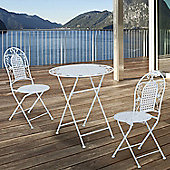Outsunny 3PC Patio Metal Bistro Set Foldable Garden Table