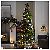 6.5ft Pre-lit Greenwood Fir Slim Christmas Tree (250 warm white LEDs)