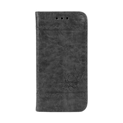 iPhone 8 Plus Smart PU Leather Wallet Flip Case Stand With Card Holder - Dk Grey