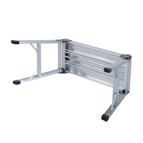 Buy Homcom 2 Step Aluminum Working Platform Folding Step