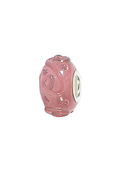 Amore & Baci Pink Rippled Jelly Murano Bead