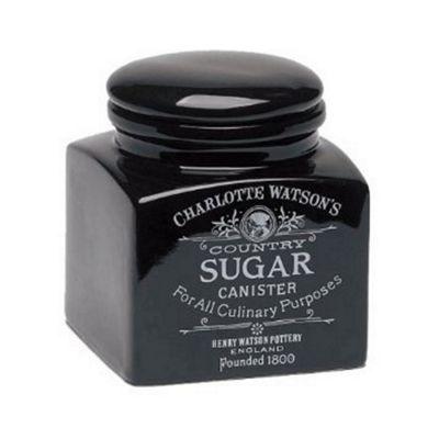 Charlotte Watson Small Square Sugar Storage Jar in Black 820