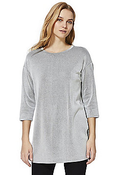 F&F Striped Tie Back Tunic - Grey