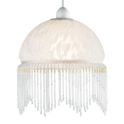 Agnes Glass Ceiling Pendant Light Shade, White