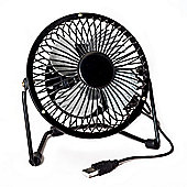 Cleverboxes FAN4BL Metal 4 inch USB Powered Desk Fan - Black