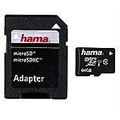 Hama 64GB microSDXC Class 10 memory card