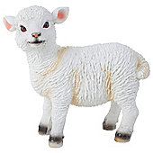 Realistic Small 14cm Standing White Lamb Sheep Animal Garden Ornament