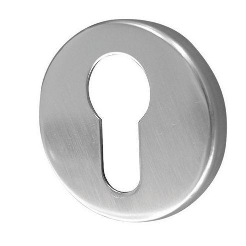 Jedo Satin Anodised Aluminium 50Mm - Euro Profile Concealed Aluminium Escutcheon