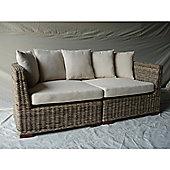 Natural Wicker 2 Sectional Puri Sofa
