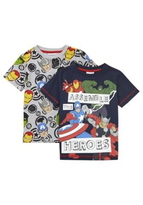 Marvel 2 Pack of The Avengers T-Shirts Multi 12-18 months