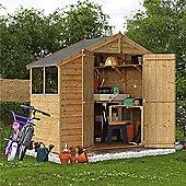 BillyOh Keeper Overlap Apex Wooden Garden Shed - 4 x 8 Windowed