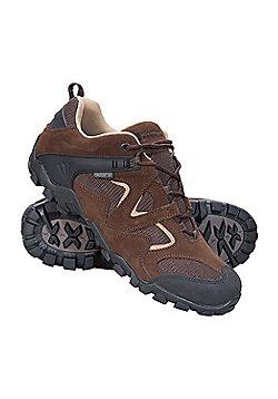 Mountain Warehouse Curlews Mens Waterproof Walking Shoes - Brown