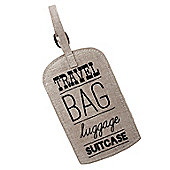 Linen Luggage Tag