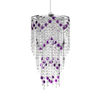 Kliving Ramsay Clear Easy Fit Acrylic Pendant - Purple