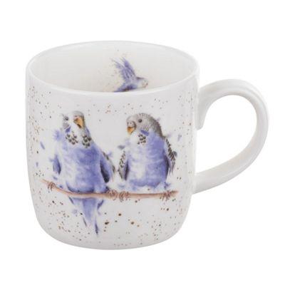 Royal Worcester Wrendale Date Night Budgies Single Mug