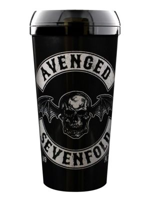 Avenged Sevenfold Death Bat Crest Black A7X Travel Mug