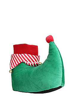 F&F Elf Boots Novelty Slippers - Green