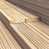 BillyOh 3.6 metre Pressure Treated Wooden Decking (120mm x 28mm) - 15 Boards - 54 Metres