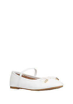 F&F Riptape Mary Jane Shoes - White