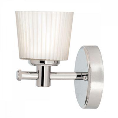 Polished Chrome Bathroom 1lt Wall Light - 1 x 3.5W LED G9